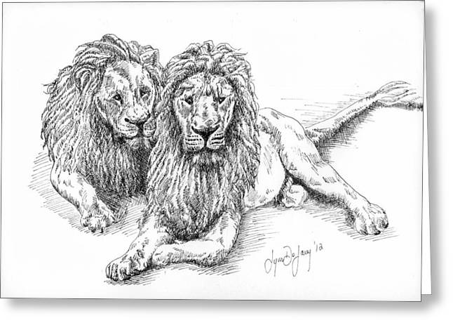 Pen And Paper Greeting Cards - Brothers Greeting Card by Lynn  De Lacey