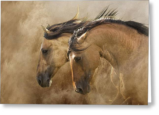 Ron Mcginnis Greeting Cards - Brothers of the Wind Greeting Card by Ron  McGinnis