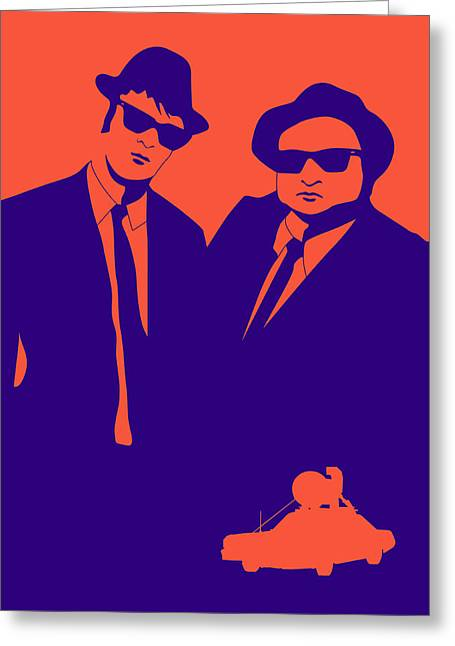 Blue Posters Greeting Cards - Brothers Poster Greeting Card by Naxart Studio
