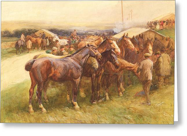 Male Horse Greeting Cards - Brough Hill Greeting Card by John Atkinson
