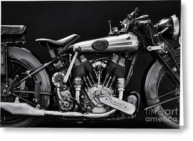1924 Greeting Cards - Brough Superior Greeting Card by Tim Gainey