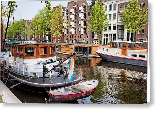 Old Home Place Greeting Cards - Brouwersgracht Canal in Amsterdam Greeting Card by Artur Bogacki
