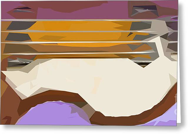 Hofner Greeting Cards - Brown Bass Purple Background 3 Greeting Card by Pablo Franchi