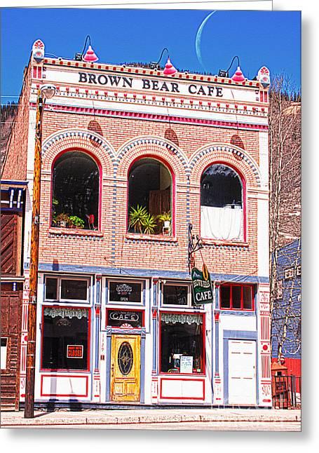 Brown Bear Cafe Silverton Colorado Greeting Card by Janice Rae Pariza