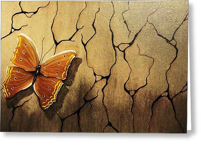 Edwin Alverio Greeting Cards - Brown Butterfly Greeting Card by Edwin Alverio