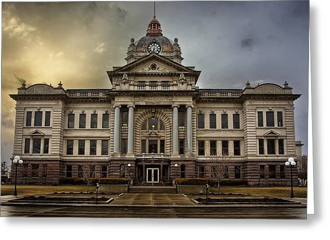 Local Greeting Cards - Brown County Courthouse Greeting Card by Thomas Zimmerman