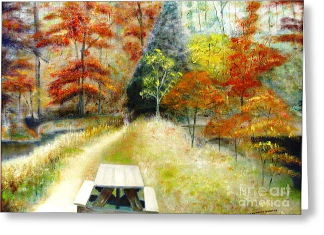 Indiana Autumn Paintings Greeting Cards - Brown County Greeting Card by Michael Anthony Edwards