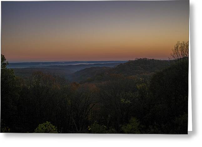 Ogling Greeting Cards - Brown County State Park Nashville Indiana Sunrise Greeting Card by David Haskett