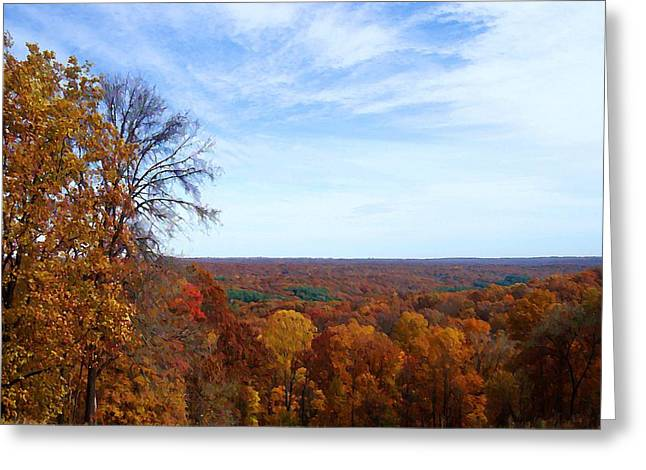 Indiana Autumn Greeting Cards - Brown County Vista Greeting Card by BackHome Images