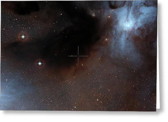 Brown Dwarf Iso-oph 102 Greeting Card by Alma (eso/naoj/nrao)/digitized Sky Survey 2. Acknowledgement: Davide De Martin