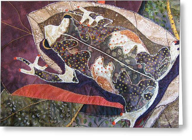 Amphibians Tapestries Textiles Greeting Cards - Brown Forest Toad Greeting Card by Lynda K Boardman