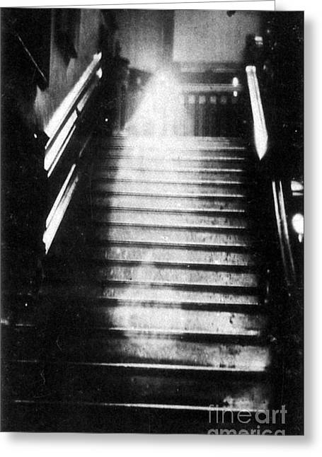 Tricks Greeting Cards - Brown Lady Of Raynham Hall Ghost 1936 Greeting Card by Photo Researchers