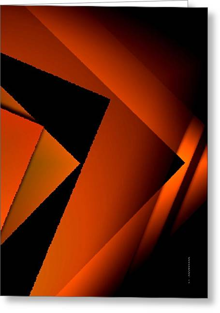 Brown Over Black In Abstract Art Greeting Card by Mario Perez