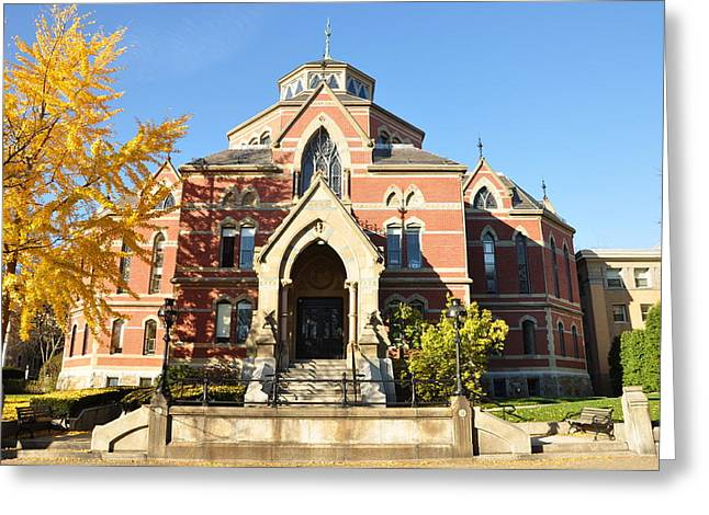 Historic Architecture Greeting Cards - Brown University - Robinson Hall Greeting Card by Nomad Art And  Design