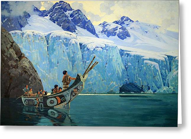 Cora Wandel Greeting Cards - Brownes The Chiefs Canoe Greeting Card by Cora Wandel