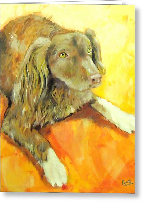 Full-length Portrait Greeting Cards - Brownie Greeting Card by Marcello Cicchini