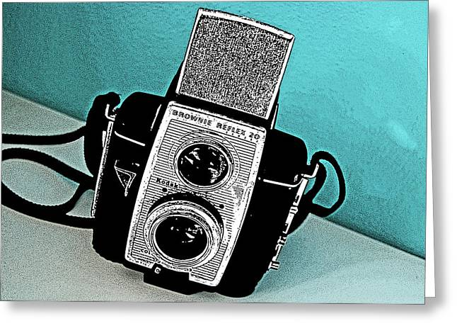 Reflex Greeting Cards - Brownie Reflex 20 Camera Greeting Card by Charlette Miller