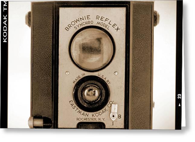 Brownie Reflex Greeting Card by Mike McGlothlen