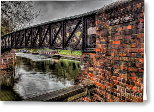 Signed Digital Greeting Cards - Browns Bridge England Greeting Card by Adrian Evans