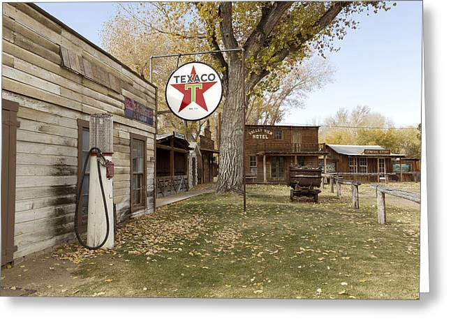 Historic Site Greeting Cards - Browns Town Campground Historic site in Bishop Greeting Card by Carol M Highsmith