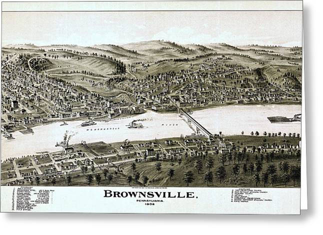 Steamboat Greeting Cards - Brownsville Pennsylvania  Greeting Card by Stephen Stookey