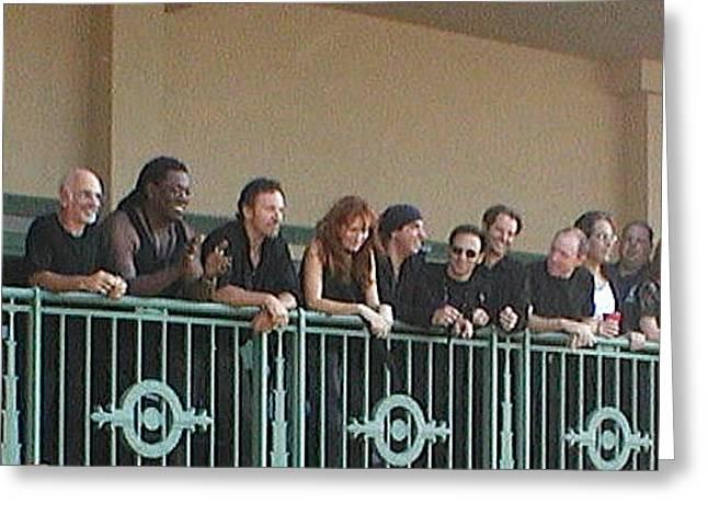 Melinda Saminski Greeting Cards - Bruce and the E Street Band in AP Greeting Card by Melinda Saminski