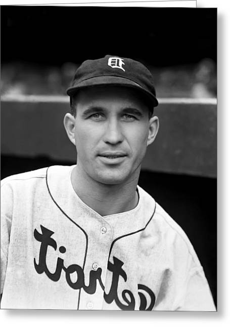 Detroit Tigers Photos Greeting Cards - Bruce D. Campbell Greeting Card by Retro Images Archive