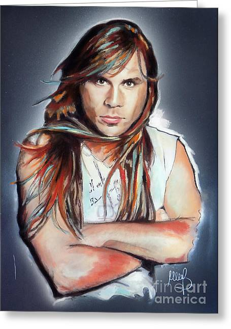 Iron Maiden Greeting Cards - Bruce Dickinson Greeting Card by Melanie D