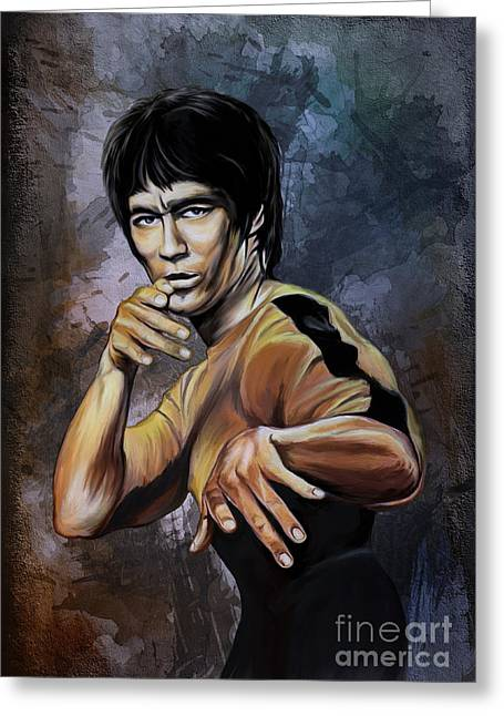 Kung Fu Greeting Cards - Bruce Lee  Greeting Card by Andrzej Szczerski