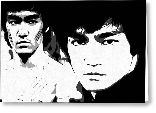 Green Hornets Greeting Cards - Bruce Lee  Greeting Card by Dan Sproul