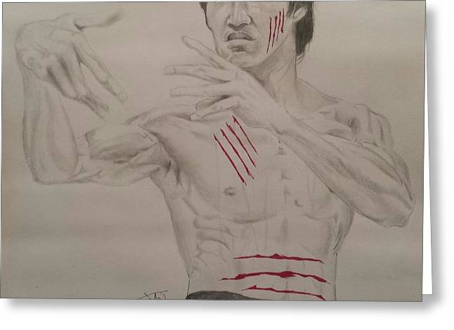 Enter The Dragon Greeting Cards - Bruce Lee Greeting Card by DMo Herr