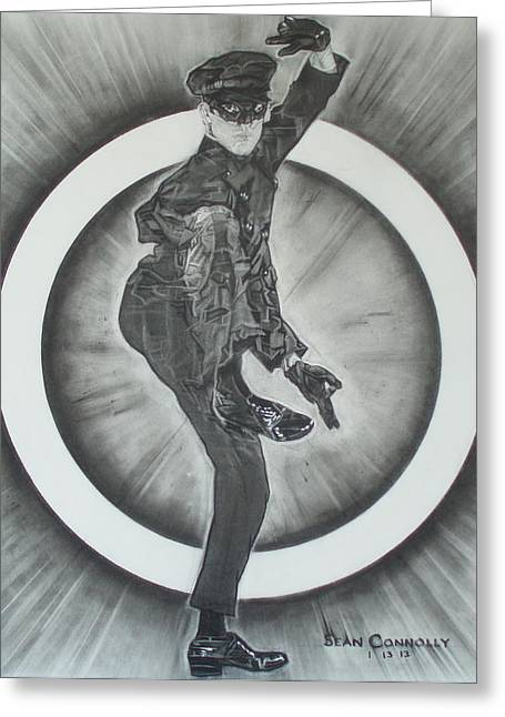 Leather Glove Drawings Greeting Cards - Bruce Lee Is Kato 2 Greeting Card by Sean Connolly
