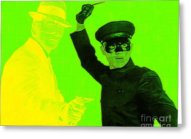 Green Hornets Greeting Cards - Bruce Lee Kato and The Green Hornet 20130216p54 Greeting Card by Wingsdomain Art and Photography