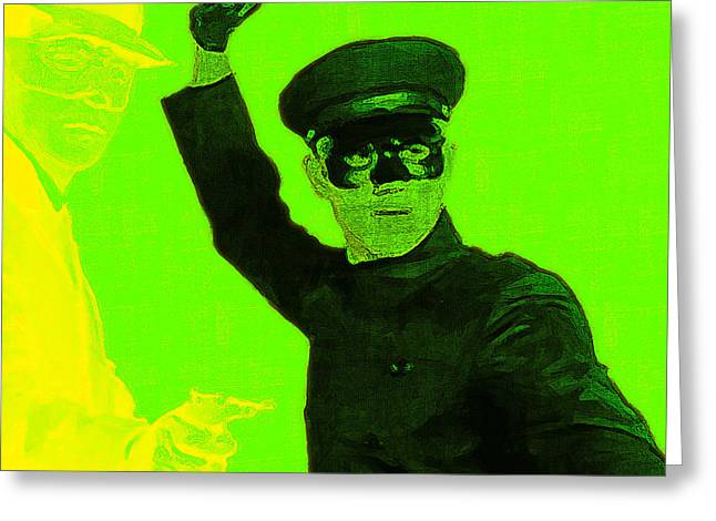 Green Hornets Greeting Cards - Bruce Lee Kato and The Green Hornet - square p54 Greeting Card by Wingsdomain Art and Photography