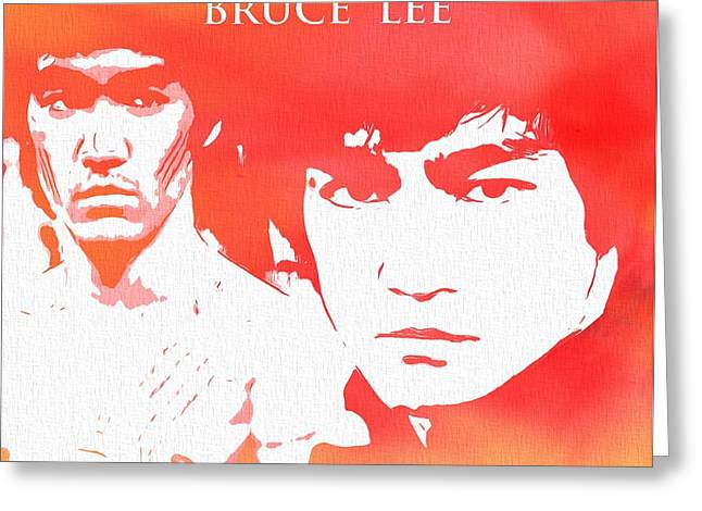 Enter The Dragon Greeting Cards - Bruce Lee Poster Greeting Card by Dan Sproul