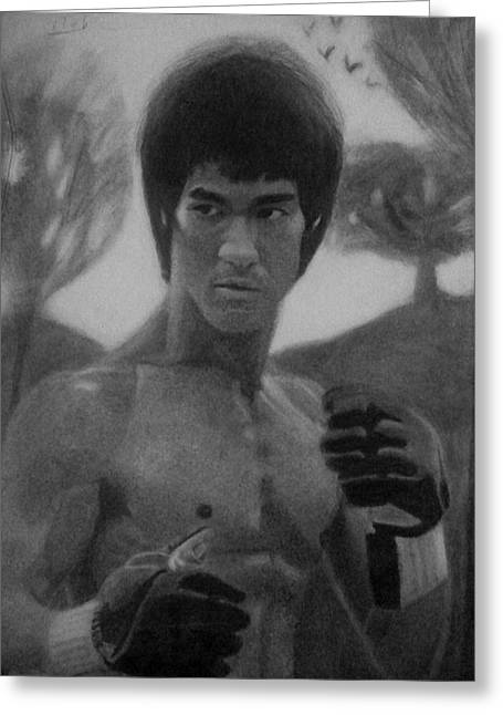 Enter The Dragon Greeting Cards - Bruce Lee Greeting Card by Vishvesh Tadsare