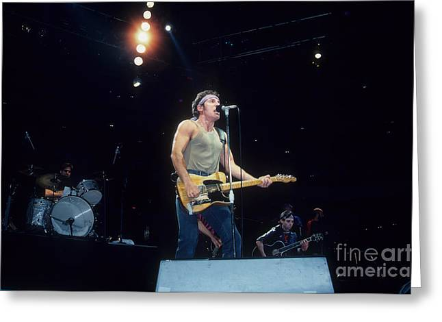 E-street Band Greeting Cards - Bruce Springsteen and The E Street Band Greeting Card by Rich Fuscia