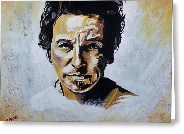 Bruce Springsteen Greeting Card by Jeremy Moore