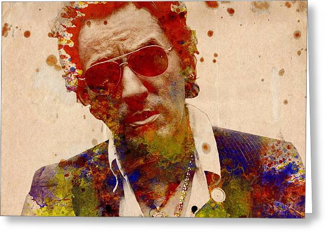 Bruce Springsteen Greeting Card by Bekim Art