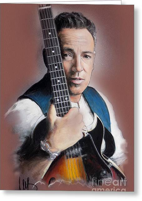 Bruce Springsteen. Greeting Cards - Bruce Springsteen Greeting Card by Melanie D