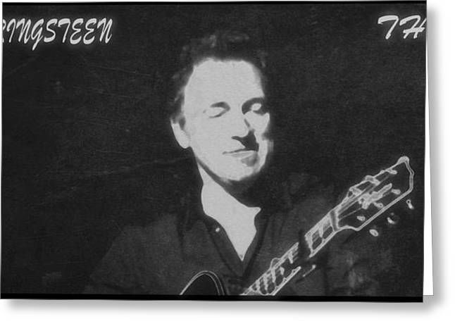 E Street Band Greeting Cards - Bruce Springsteen The Boss Greeting Card by Dan Sproul