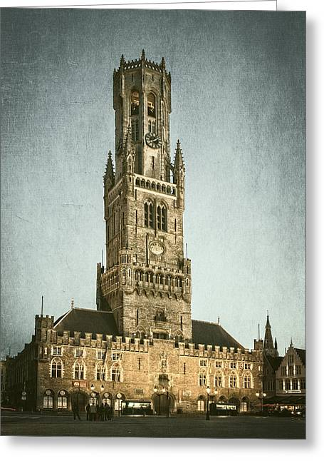 Markt Greeting Cards - Bruges Belfort Greeting Card by Joan Carroll