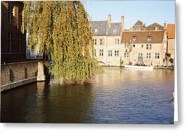 Small Towns Greeting Cards - Brugge Belgium Greeting Card by Panoramic Images