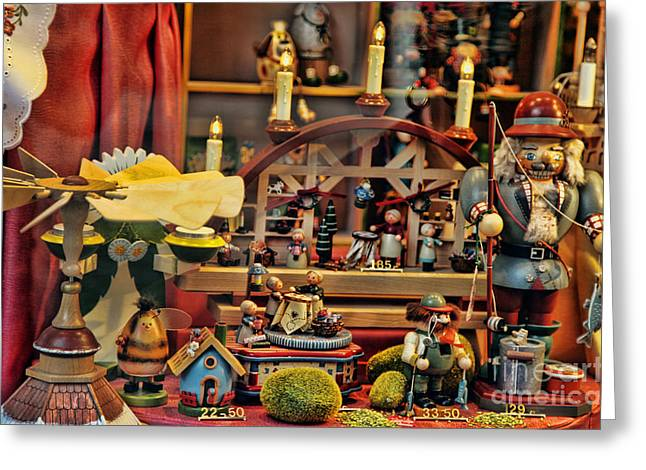 Toy Store Mixed Media Greeting Cards - Toy Store - Brugge Greeting Card by Rafael  Pacheco
