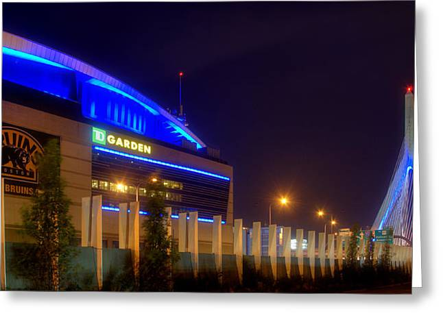 Td Garden Greeting Cards - Bruins Country Panoramic Greeting Card by Joann Vitali