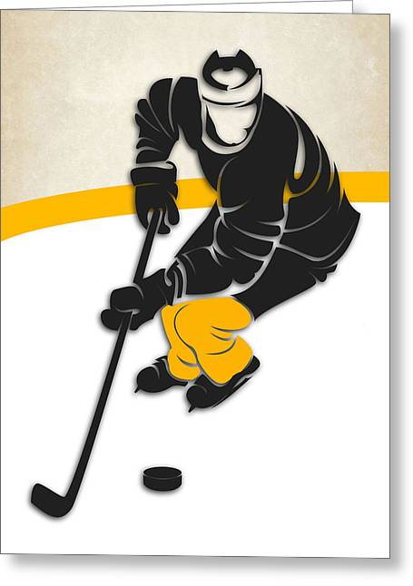 Boston Iphone Cases Greeting Cards - Bruins Hockey Rink Greeting Card by Joe Hamilton