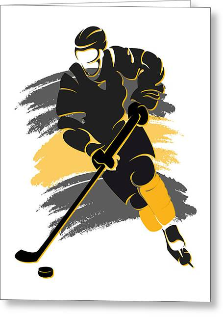 Boston Iphone Cases Greeting Cards - Bruins Shadow Player2 Greeting Card by Joe Hamilton
