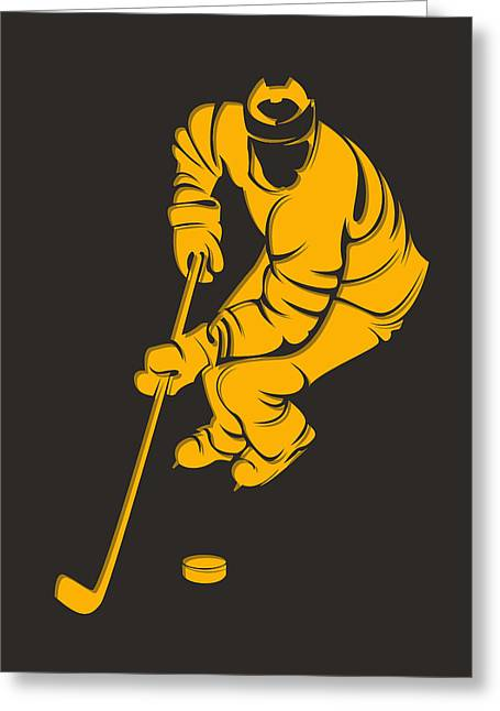Boston Iphone Cases Greeting Cards - Bruins Shadow Player3 Greeting Card by Joe Hamilton
