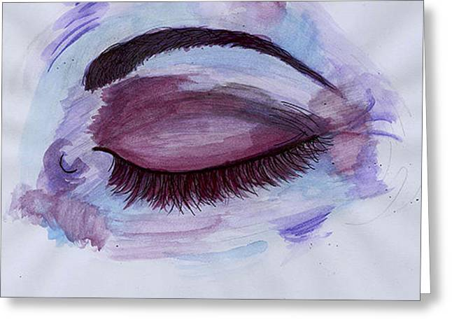 Eyelash Greeting Cards - Bruise Greeting Card by Cecilia  Ottens