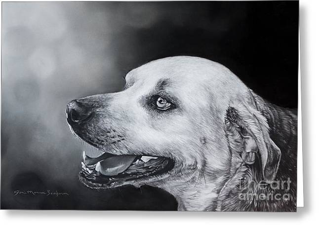 Panting Dog Greeting Cards - Bruiser Greeting Card by Joni Beinborn